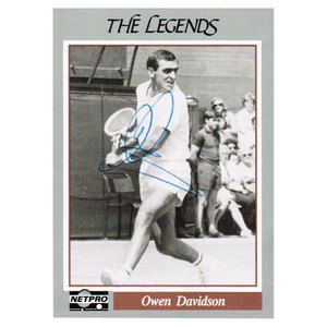 NETPRO OWEN DAVIDSON SIGNED LEGENDS CARD