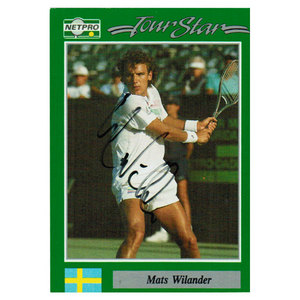 NETPRO MATS WILANDER SIGNED MENS CARD