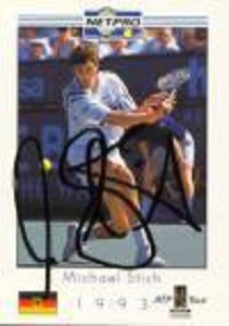NETPRO Michael Stich Signed Mens Card
