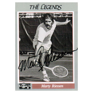 NETPRO MARTY RISSEN SIGNED LEGENDS CARD