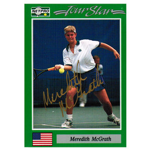 NETPRO MEREDITH MCGRATH SIGNED WOMENS
