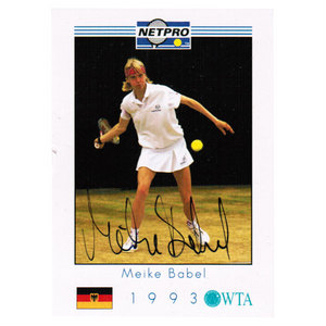 NETPRO MEIKE BABEL SIGNED WOMENS CARD