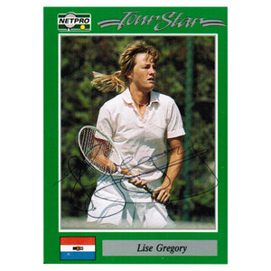 TENNIS EXPRESS LISE GREGORY SIGNED WOMENS CARD