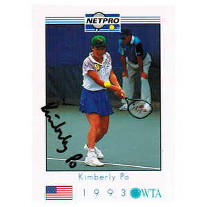 NETPRO KIMBERLY PO SIGNED WOMENS CARD