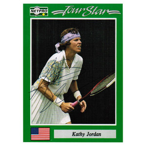 NETPRO KATHY JORDAN SIGNED WOMENS CARD