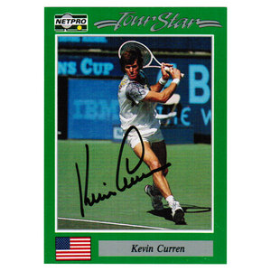 Kevin Curren Signed Men`s Card