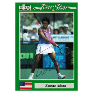NETPRO KATRINA ADAMS SIGNED WOMENS CARD
