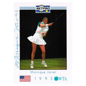NETPRO MONIQUE JAVER SIGNED WOMENS CARD