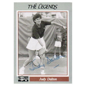 NETPRO JUDY DALTON SIGNED LEGENDS CARD