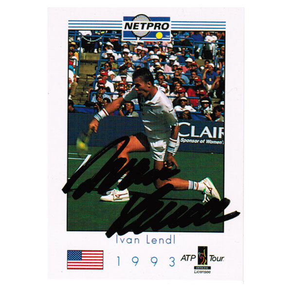 Ivan Lendl Signed Men's Card