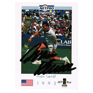 TENNIS EXPRESS IVAN LENDL SIGNED MENS CARD