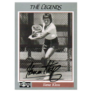 TENNIS EXPRESS ILANA KLOSS SIGNED LEGENDS CARD