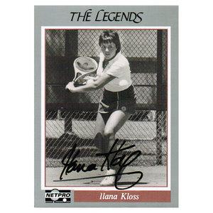 TENNIS EXPRESS ILANA KLOSS SIGNED LEGENDS CARD