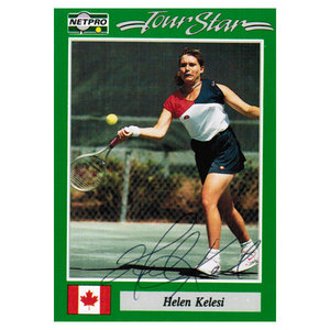 NETPRO HELEN KELESI SIGNED WOMENS CARD