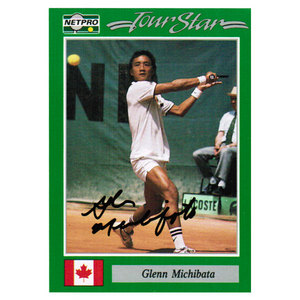 NETPRO GLENN MICHIBATA SIGNED MENS CARD