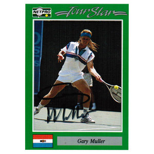 NETPRO GARY MULLER SIGNED MENS CARD