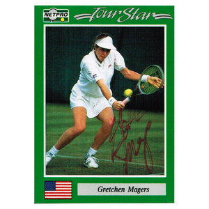 NETPRO GRETCHEN MAGERS SIGNED WOMENS