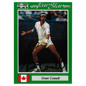 TENNIS EXPRESS GRANT CONNEL SIGNED MENS CARD