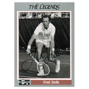 Fred Stolle Signed  Legends Card