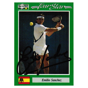 NETPRO EMILIO SANCHEZ SIGNED MENS CARD