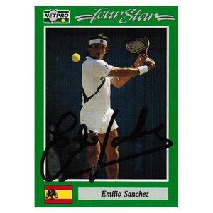 Emilio Sanchez Signed  Men`s Card