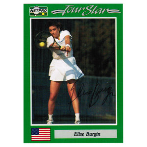 NETPRO ELISE BURGIN SIGNED WOMENS CARD