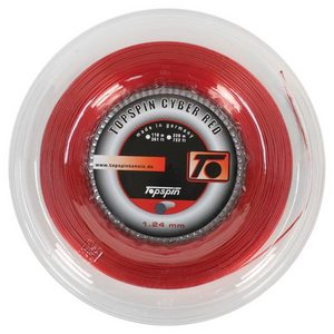 TOPSPIN CYBER RED 1.24 REEL TENNIS STRING