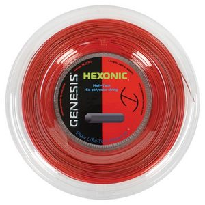 GENESIS HEXONIC 1.18 REEL TENNIS STRING RED