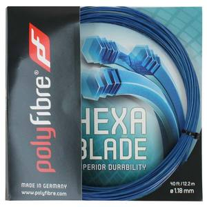POLYFIBRE HEXABLADE 1.18/17L TENNIS STRING