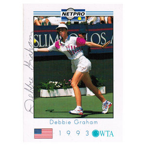 NETPRO DEBBIE GRAHAM SIGNED WOMENS CARD