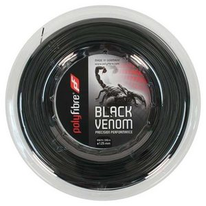 POLYFIBRE BLACK VENOM 1.25/17G REEL TENNIS STRING
