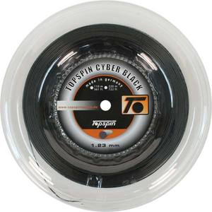 TOPSPIN CYBER BLACK 1.23 REEL TENNIS STRING
