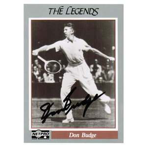 TENNIS EXPRESS DON BUDGE SIGNED LEGENDS CARD