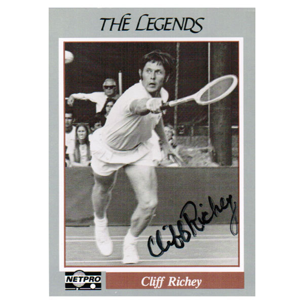 Cliff Richey Signed Legends Card