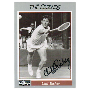 NETPRO CLIFF RICHEY SIGNED LEGENDS CARD