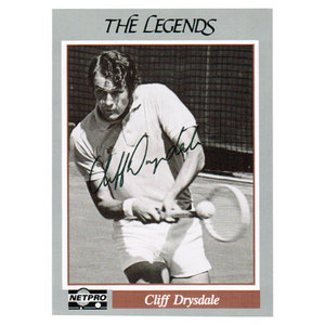 Cliff Drysdale Signed  Legends