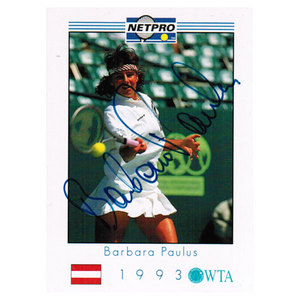 TENNIS EXPRESS BARBARA PAULUS SIGNED WOMENS