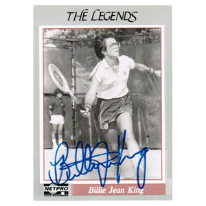 TENNIS EXPRESS BILLIE JEAN KING SIGNED LEGENDS