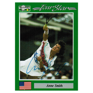 NETPRO ANNE SMITH SIGNED WOMENS CARD
