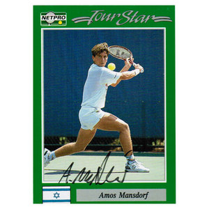 TENNIS EXPRESS AMOS MANSDORF SIGNED MENS CARD