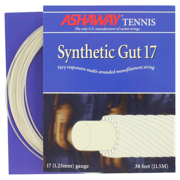 Synthetic Gut 17g Tennis String White