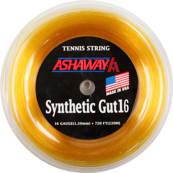 Synthetic Gut 16g Reel 720 ` Gold