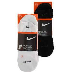 NIKE 3PK DRI FIT HLF CUSHN LARGE NO SHOW SOCK