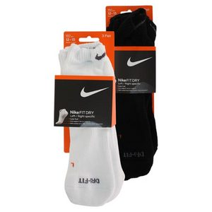 NIKE 3 PK DRI FIT HALF CUSHION XL LOW CUT