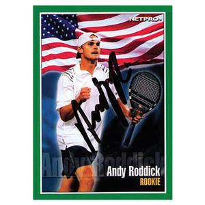 NETPRO ANDY RODDICK ROOKIE AUTOGRAPHED CARD