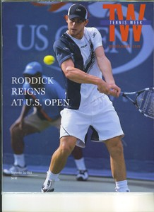 TENNIS EXPRESS Andy Roddick Tennis Week Magazine Cover
