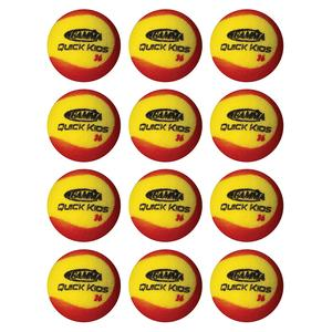 Quick Kids 36 Foam Tennis Balls Twelve Pack