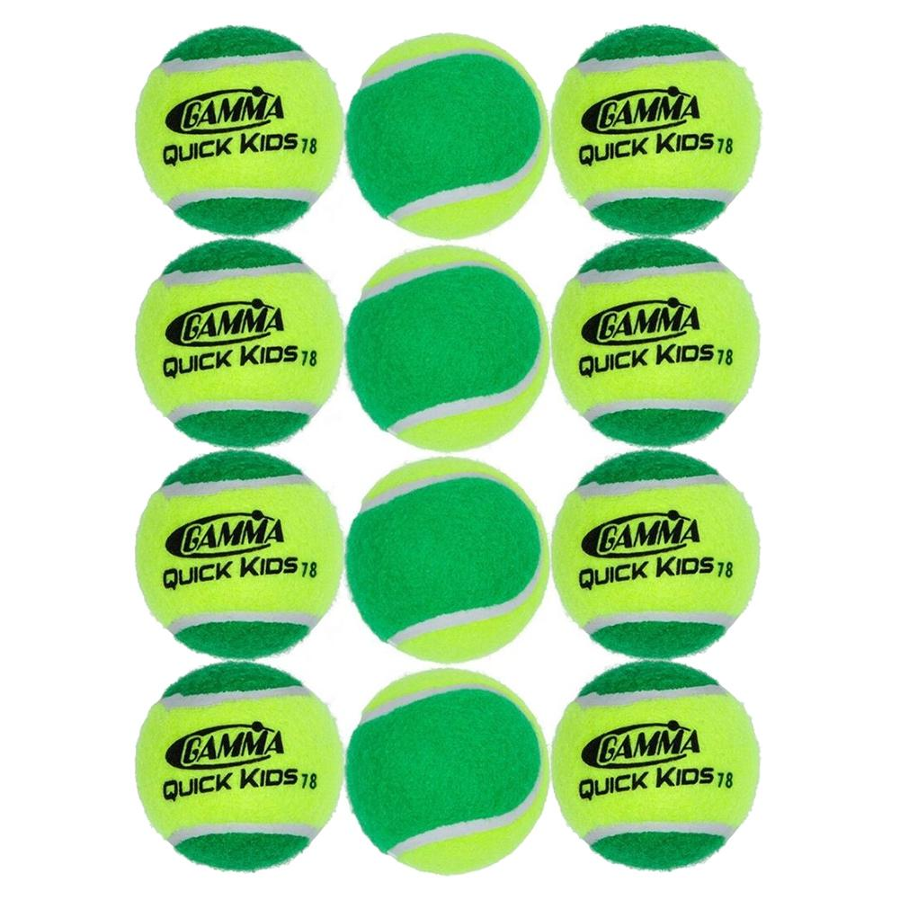 Quick Kids 78 Tennis Balls Twelve Pack