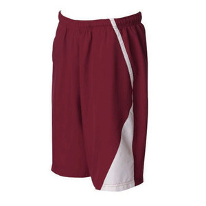 Men`s Page Tennis Shorts White Burgundy