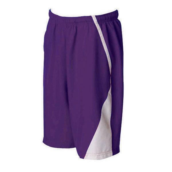 Men's Page Tennis Shorts White Purple
